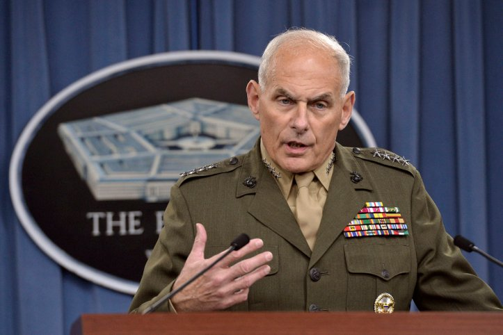 Chief of Staff John Kelly in 2014 (Public Domain photo found  here )