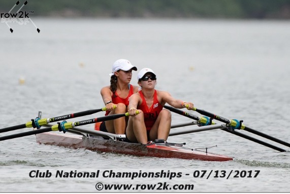 Julianna rowing in the Club National Championships.