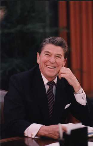 President Reagan in 1984 (Public Domain image found  here )